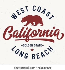 West Coast California - Tee Design For Print