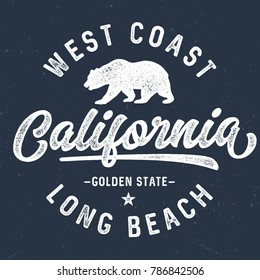 West Coast California - Tee Design For Print