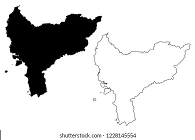 West Kalimantan (Subdivisions of Indonesia, Provinces of Indonesia) map vector illustration, scribble sketch West Kalimantan map