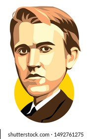 west nusa tenggara, Indonesia- august 31, 2019: young thomas alva edison vector sketch illustration, isolated style