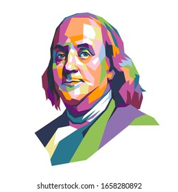 west nusa tenggara, Indonesia- february 25, 2020: Benjamin Franklin  vector illustration, isolated style, eps 8.