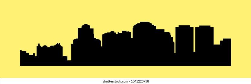 West Palm Beach, Florida ( city silhouette )