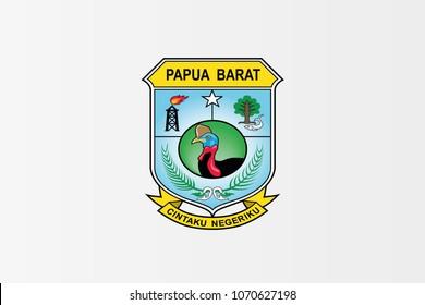 West Papua national flag. Papua Barat province vector illustration symbol.