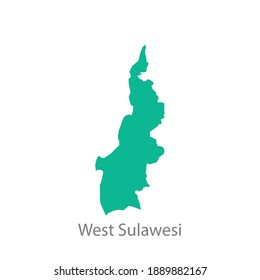 west sulawesi province green map vector
