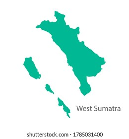 West Sumatra Province Green map vector