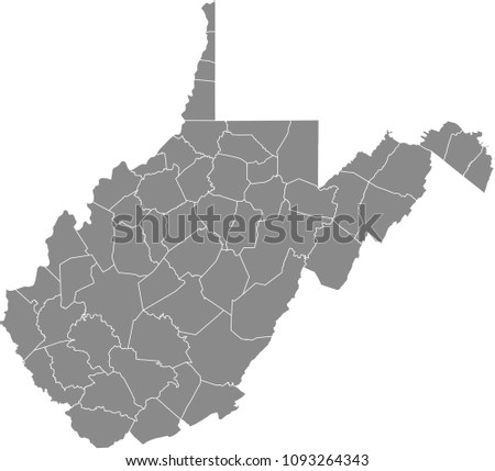 West Virginia county map