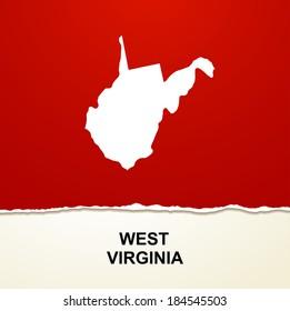 West Virginia map vector background