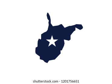 West Virginia outline map state shape usa state america symbol