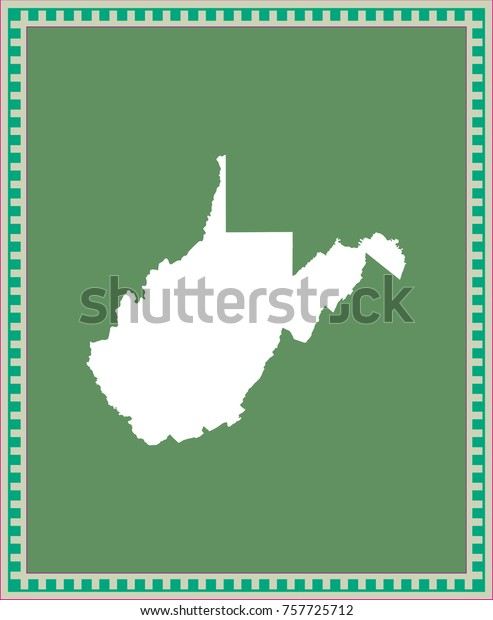 West Virginia State Usa Map Vector Stock Vector (Royalty ...