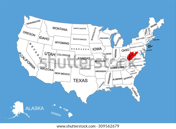 West Virginia State Usa Vector Map Stock Image   Download Now on map of indiana and wisconsin, map of indiana and tennessee, map of indiana and farmland, map of indiana and chicago, map of indiana and towns,