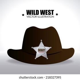 Western design over white background, vector illustration
