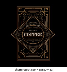 Western Design Template for Handcrafted Coffee Label Design Flourishes Calligraphy Template