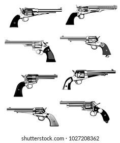 western revolvers wallpaper shop window store front