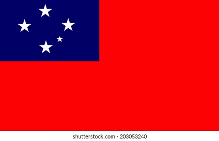 Western samoa flag isolated vector in official colors and proportion correctly
