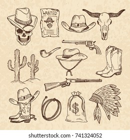 babb7cea851 Hand Drawn Cowboy Hat Images