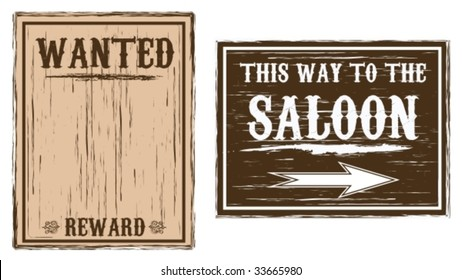 Western Wanted/Saloon Background