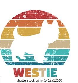 Westie silhouette vintage and retro