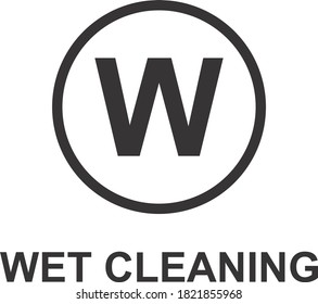 WET CLEANING ICON, SIGN AND SYMBOL