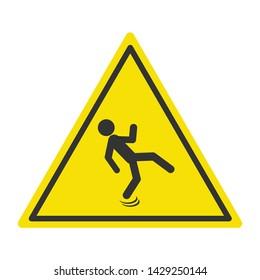 Wet floor , slippery floor , sign