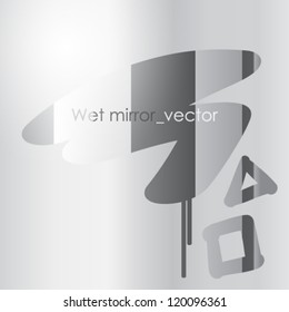 Wet misted mirror background / text on preview ONLY
