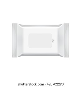 Wet wipes package isolated on white background