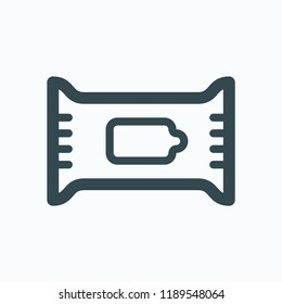 Wet wipes vector icon