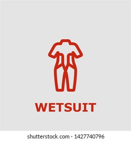 Wetsuit symbol. Outline wetsuit icon. Wetsuit vector illustration for graphic art.