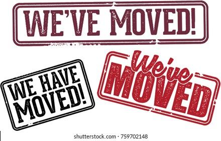 We've Moved Relocation Announcement Stamps