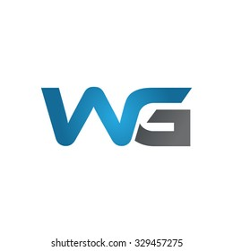 WG company linked letter logo blue