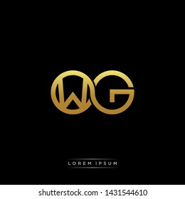 WG initial letter linked circle capital monogram logo modern template