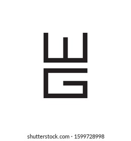 WG initial letter logo template vector icon design