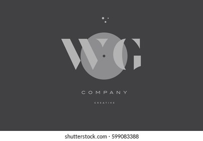 wg w g  grey modern stylish alphabet dot dots eps company letter logo design vector icon template