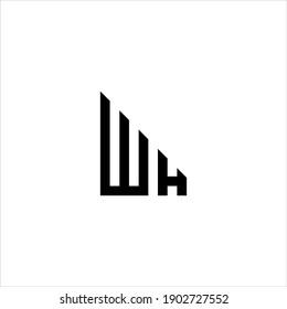 WH or HW letter logo design vector.