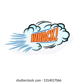 whack Colorful comic speech bubble vector
