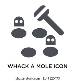 Whack a mole icon vector isolated on white background for your web and mobile app design, Whack a mole logo concept