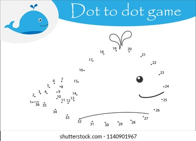 whale cartoon style dot game 260nw