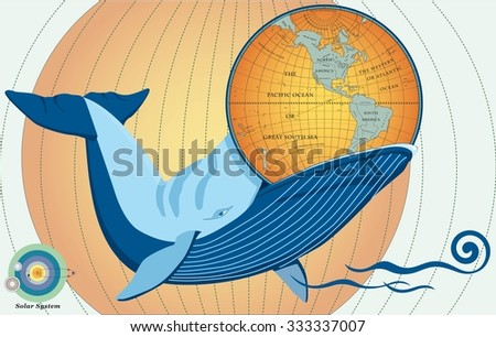 whale eat word globe stock vector royalty free 333337007