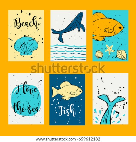 Whale fish vector design templates journal stock vector royalty whale and fish vector design templates for journal cards scrapbooking cards greeting cards m4hsunfo