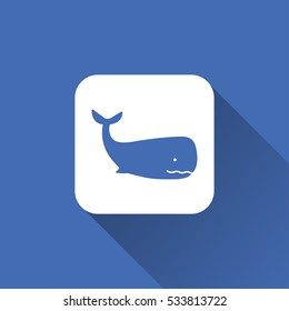 Whale icon animal sign