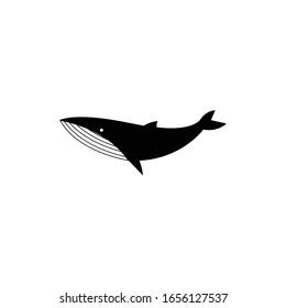 Whale logo icon vector illustration.