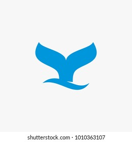 Whale tail logo design inspiration isolated on white background