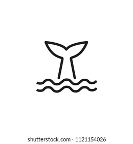 Whale tale line icon. Animal, cachalot, mammal. Conservation concept. Vector illustration can be used for topics like wildlife, ocean, ecosystem