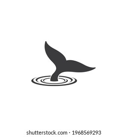 whale tale logo vector icon illustration in simple design