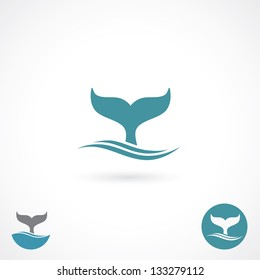 Whale tale - vector illustration