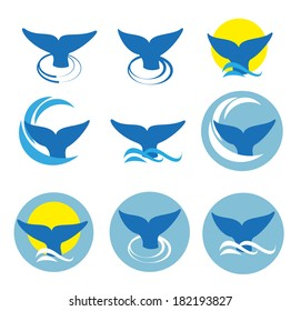 Whale tale, vector illustration