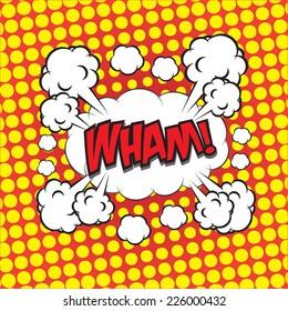 WHAM! comic wording for comic backgound