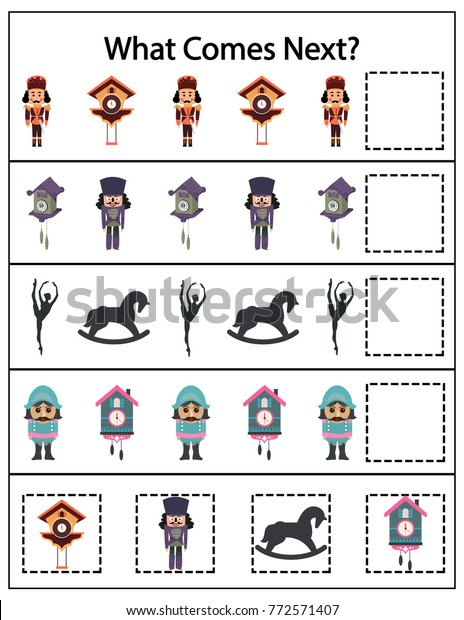 picture about Nutcracker Worksheets Printable known as What Arrives Up coming Kindergarten Worksheet Young children Inventory Vector