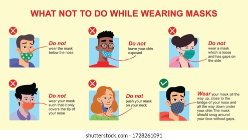 What not to do while wearing masks. 5 Mistakes people make when wearing face masks. Avoid mistakes use face masks