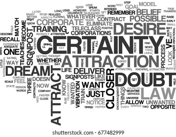 WHAT S THE OPPOSITE OF DOUBT TEXT WORD CLOUD CONCEPT