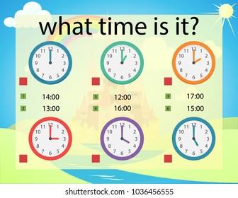 What time preschool kindergarten worksheet clock stock vector what time is it preschool kindergarten worksheet clock kids vector illustration ibookread ePUb